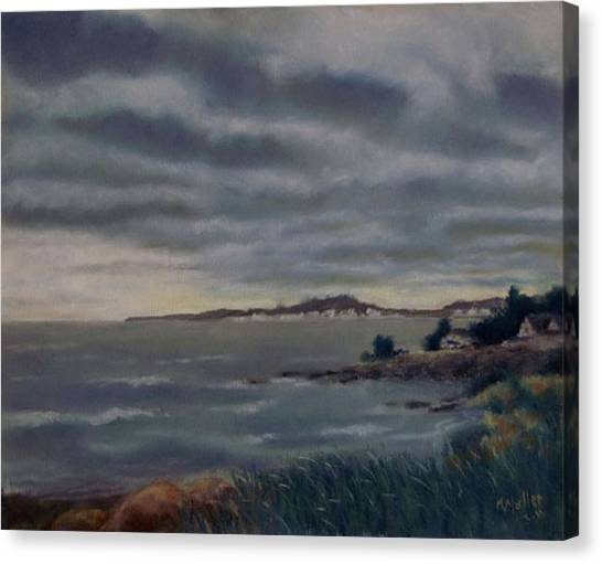 Heavy Clouds Over Rye Canvas Print by Marcus Moller