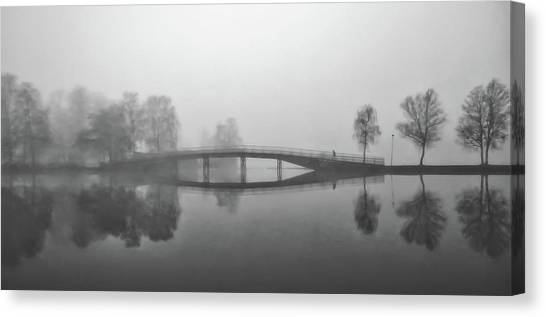 Gota Canvas Print - Heavy Fog Over The Gota Canal In Sweden by Pixabay