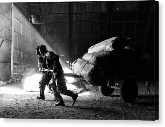 Carts Canvas Print - Heavy Load by Damon Lynch
