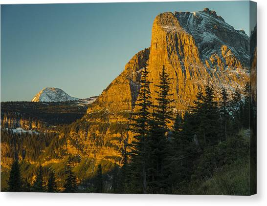 Canvas Print featuring the photograph Heavy Runner Mountain by Gary Lengyel