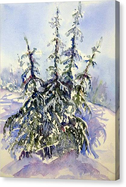 Heavy Snow In The Cascades Canvas Print