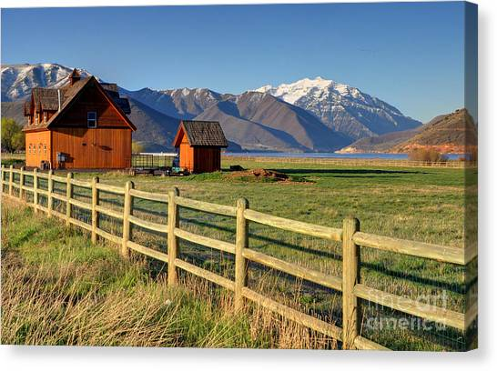 Heber Valley Ranch House - Wasatch Mountains Canvas Print