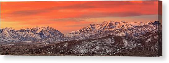 Heber Valley Sunrise Panorama. Canvas Print