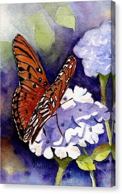 Hebrews 4 12 Canvas Print by Kathy Nesseth