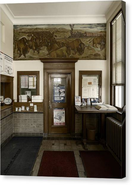 Hebron Nebraska Post Office Mural Canvas Print