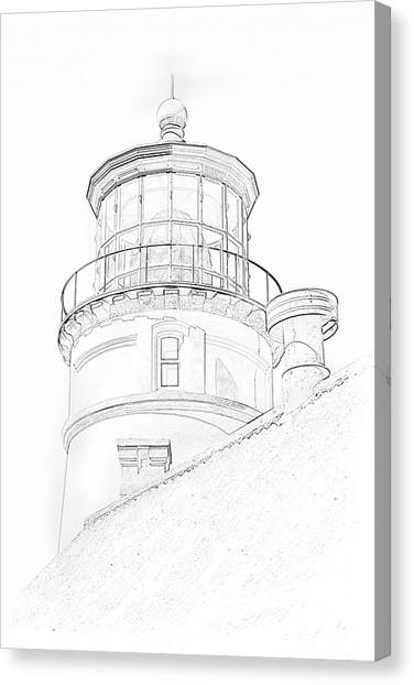 Hecitia Head Lighthouse Sketch Canvas Print