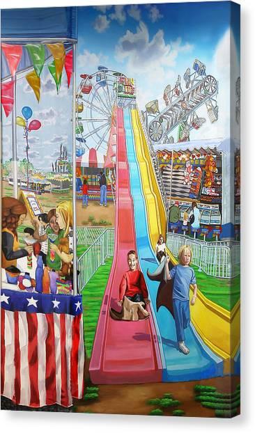 Hecksher Park Fair Canvas Print