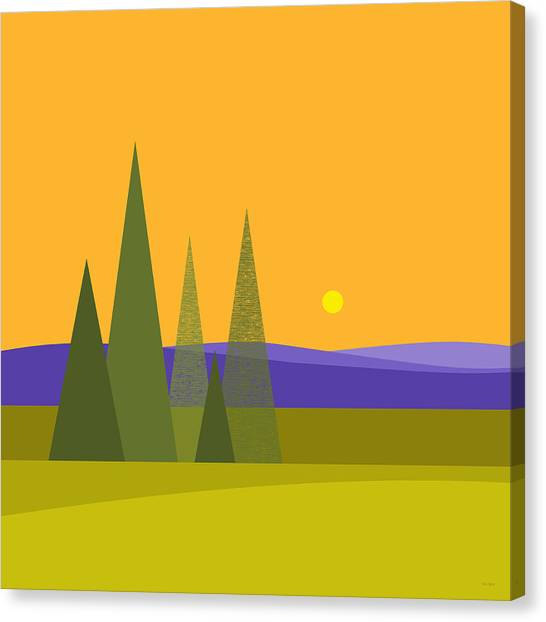 Rolling Hills Canvas Print - Rolling Hills by Val Arie