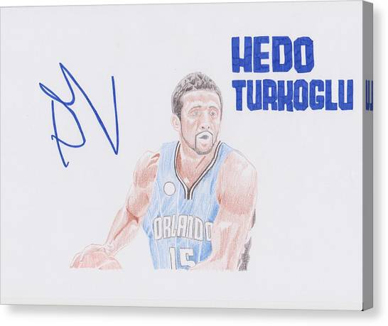 Orlando Magic Canvas Print - Hedo Turkoglu by Toni Jaso