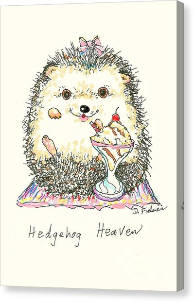 Hedgehog Heaven Canvas Print