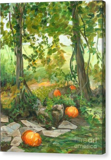 Heidi's Pumpkins Canvas Print