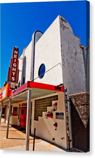 Heights Movie Theater Canvas Print