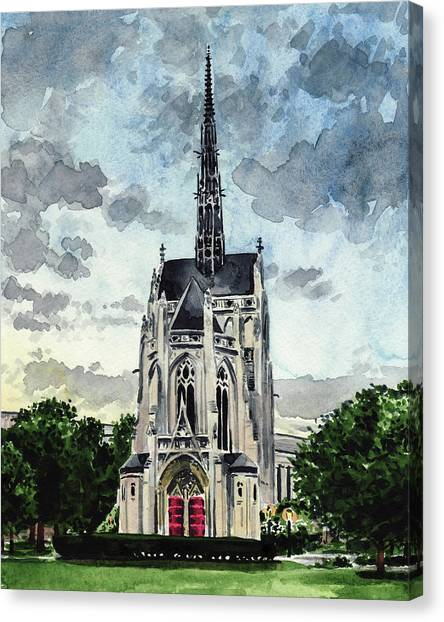 University Of Pittsburgh Canvas Print - Heinz Chapel University Of Pittsburgh Pennsylvania Architecture Wedding Cathedral Of Learning Pitt by Laura Row