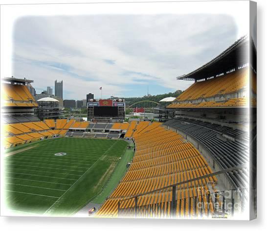 Heinz Stadium With Pittsburgh Skyline Canvas Print