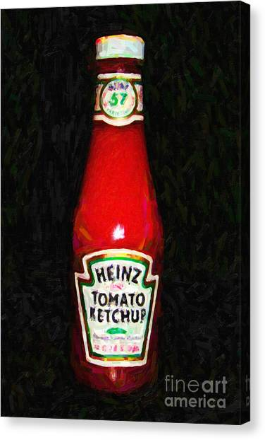 Condiments Canvas Print - Heinz Tomato Ketchup by Wingsdomain Art and Photography