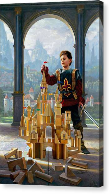 Knights Canvas Print - Heir To The Kingdom by Greg Olsen