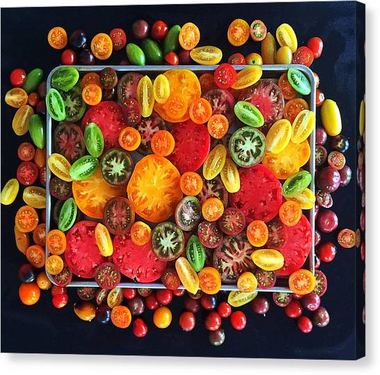 Heirloom Tomato Medley Canvas Print