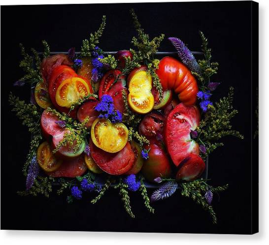 Heirloom Tomato Platter Canvas Print