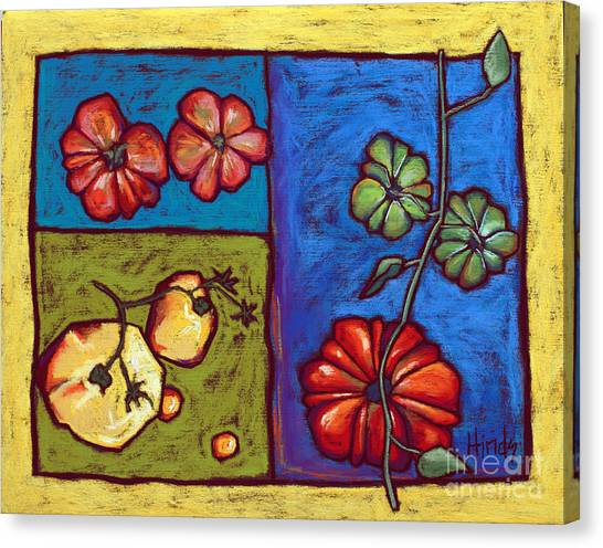 Vegetable Garden Canvas Print - Heirloom Tomatoes by David Hinds
