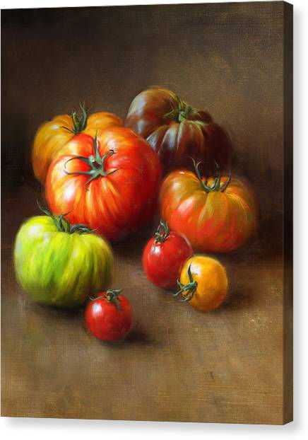 Vegetables Canvas Print - Heirloom Tomatoes by Robert Papp
