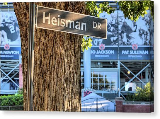 Cam Newton Canvas Print - Heisman Drive by JC Findley