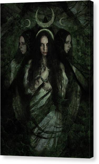 Moon Canvas Print - Hekate by Cambion Art