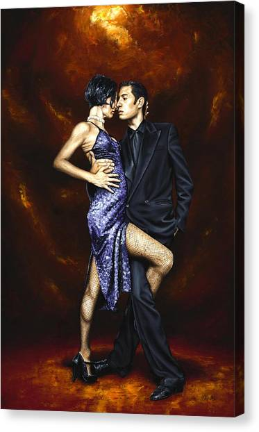 Tango Canvas Print - Held In Tango by Richard Young