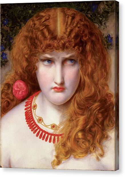 God Of War Canvas Print - Helen Of Troy by Frederick Sandys-Walker