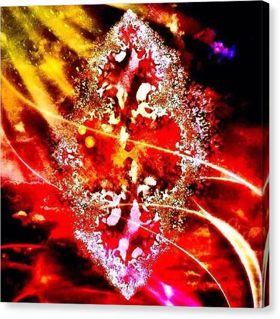 Mandala Canvas Print - Helical Fractal Matrices by Nick Heap