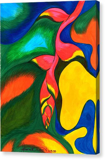 Heliconia Rostrata Canvas Print by Fanny Diaz