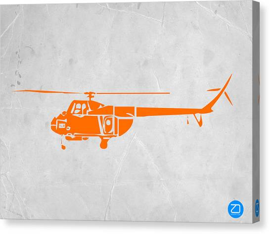 Toy Airplanes Canvas Print - Helicopter by Naxart Studio