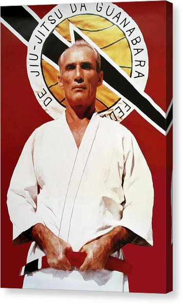Karate Canvas Print - Helio Gracie - Famed Brazilian Jiu-jitsu Grandmaster by Daniel Hagerman