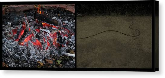 Hell Canvas Print - Hell by James W Johnson