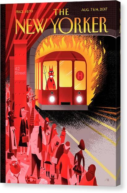 Hell Train Canvas Print