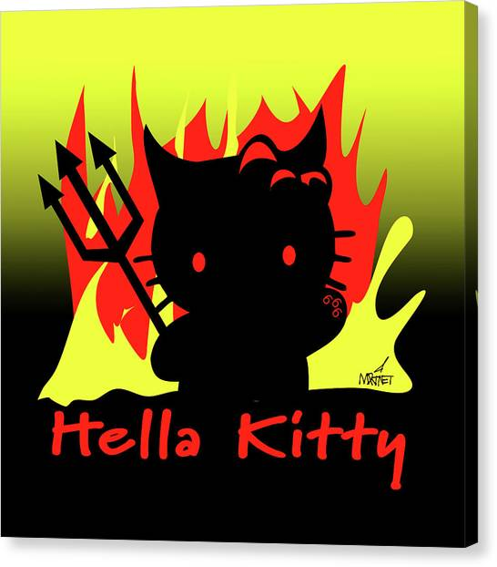 Hella Kitty Canvas Print