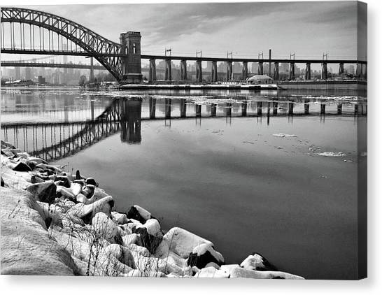Hellgate Half Reflection Canvas Print
