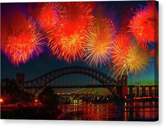 Canvas Print featuring the photograph Hellgate Independence Celebration by Chris Lord