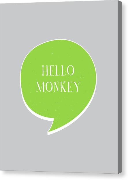 Monkeys Canvas Print - Hello Monkey by Samuel Whitton