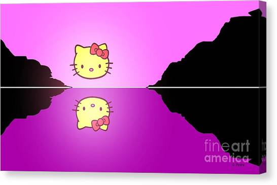 Hello Kitty Sunrise Canvas Print
