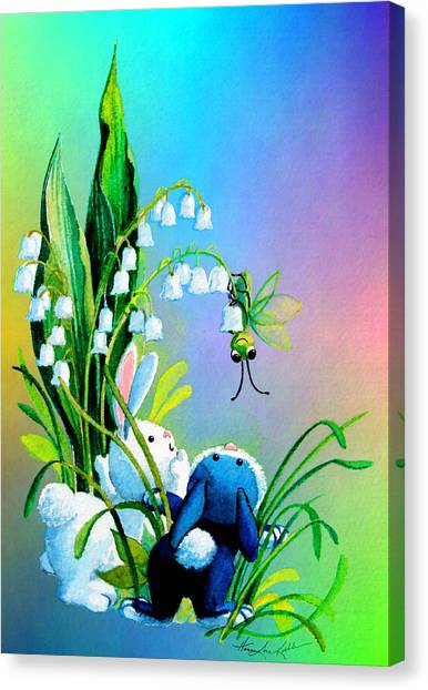 Easter Bunny Canvas Print - Hello There by Hanne Lore Koehler