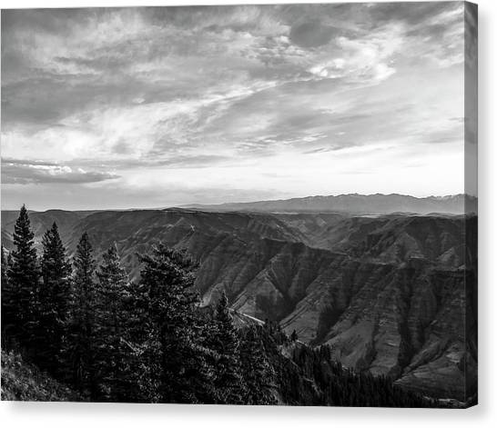 Hells Canyon Drama Canvas Print