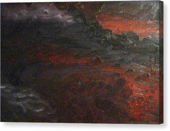 Hell's Fury Canvas Print by Gloria Condon