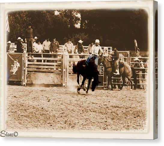 Helluva Rodeo-the Ride 2 Canvas Print