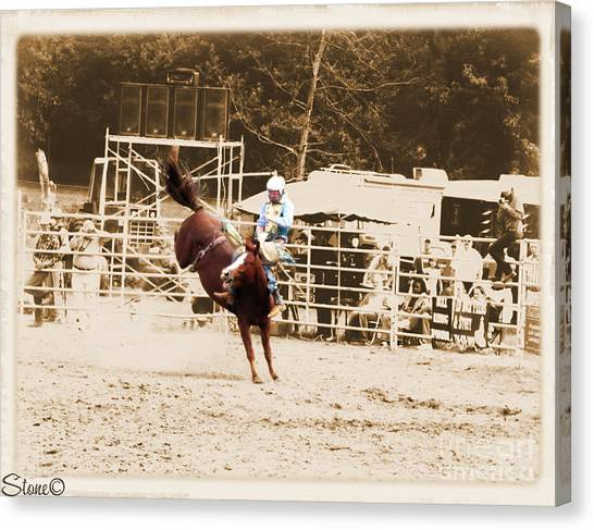 Helluva Rodeo-the Ride 3 Canvas Print