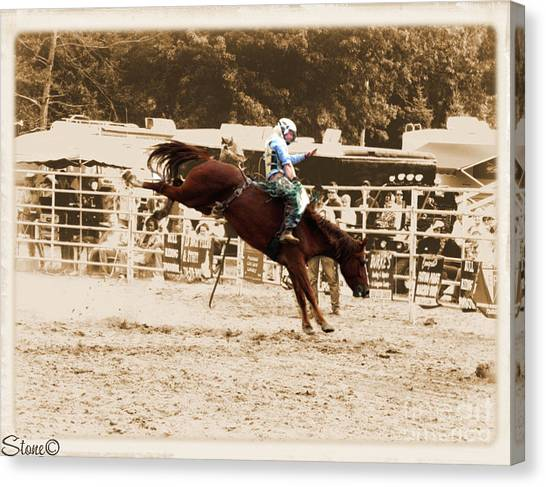 Helluva Rodeo-the Ride 4 Canvas Print