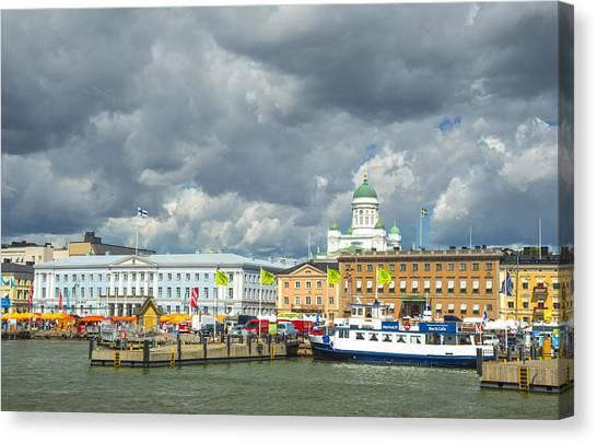 Helsinki, South Harbor Canvas Print
