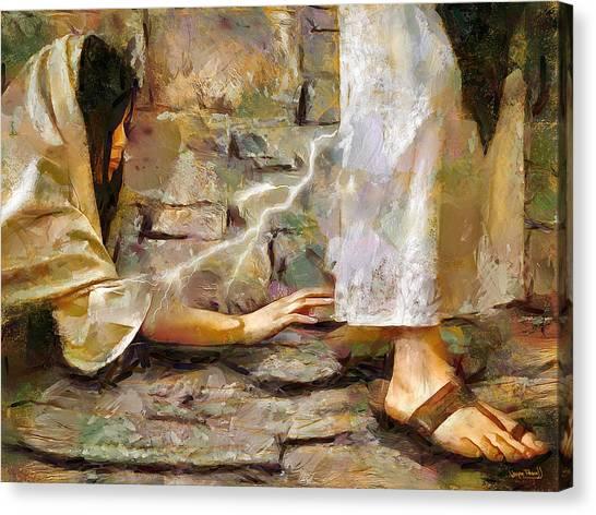 Hem Of His Garment Canvas Print