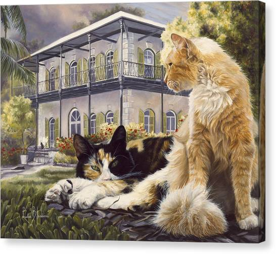Florida House Canvas Print - Hemingway House by Lucie Bilodeau