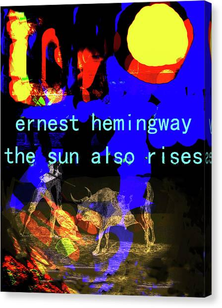 Imaginary Worlds Canvas Print - Hemingway Poster  by Paul Sutcliffe