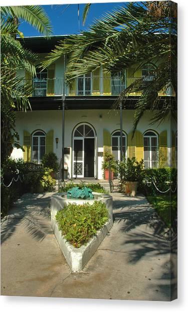 Hemingways House Key West Canvas Print